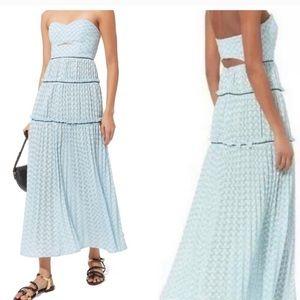 Metallic Chevron Knit Bandeau Dress